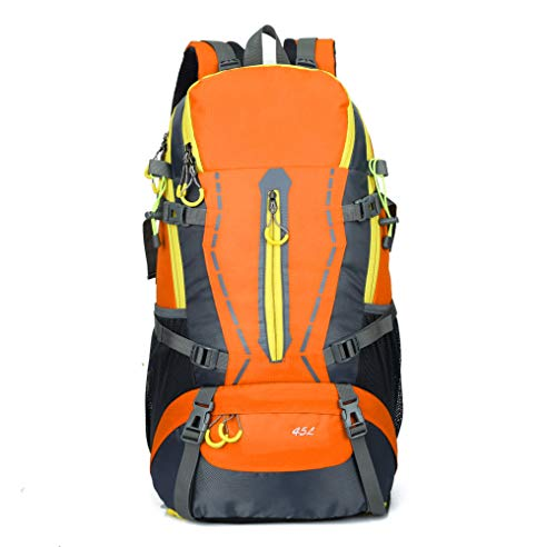 Miss li escursione sacchetto di alpinismo sacchetto di attrezzature sportive all'aperto fornisce 45l grande capacità sacchetto di campeggio multiuso professionale,orange-onesize