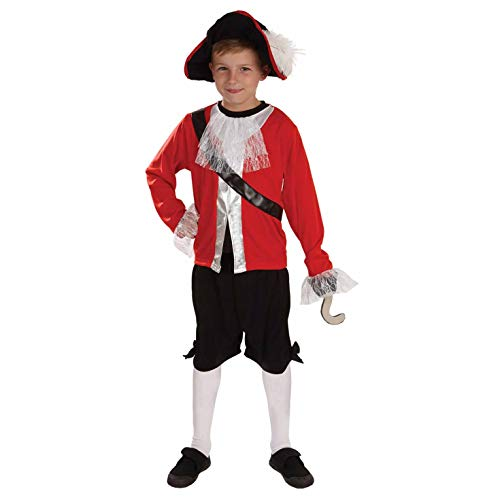 Disney Captain Hook Kostüm Kind - Fun Shack FNK3879S Kostüm, Boys, Pirate
