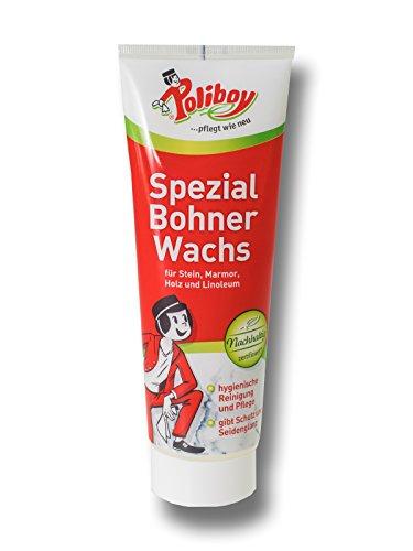 Poliboy - Spezial Bohner Wachs - für Fußböden aus Holz, Kunststoff oder Stein - 250ml - Made in Germany
