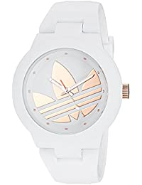 adidas Women's 'Aberdeen' Quartz Plastic and Silicone Casual Watch, Color:White (Model: ADH9085)