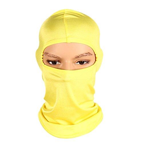 Reiten Winddicht Maske erthome Outdoor Ski Motorrad Radfahren Vollgesichtsmaske Hals Ultra Thin (41x 24cm, Gelb) -