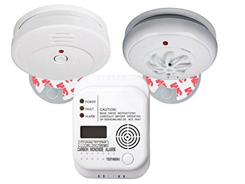 Brandschutz-Set5 (Rauchmelder, Kohlenmonoxid-Melder, Hitzemelder) Notfall-Set Branschutz-Paket