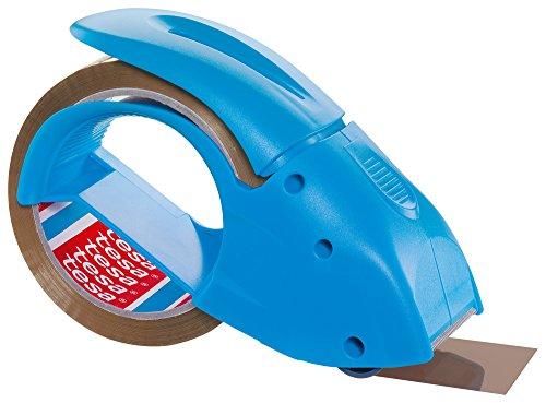 Tesa Packband Handabroller Pack 'n' Go, Blau, inkl. 1 Rolle tesapack PP in braun, 50m:50mm