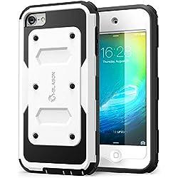i-Blason Etui pour iPod Touch 6eme Generation [Série Armorbox] Coque de protection Intégrale avec technologie double couche et protection d'écran intégré - Noir