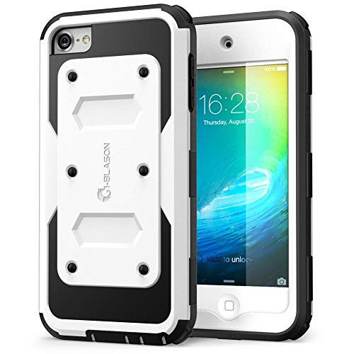 i-Blason Apple iPod Touch 6 Generation Hülle Armorbox Case 360 Grad Handyhülle Dual Layer Schutzhüllemit eingebautem Displayschutz, Schwarz - Apple Ipod Touch Cases