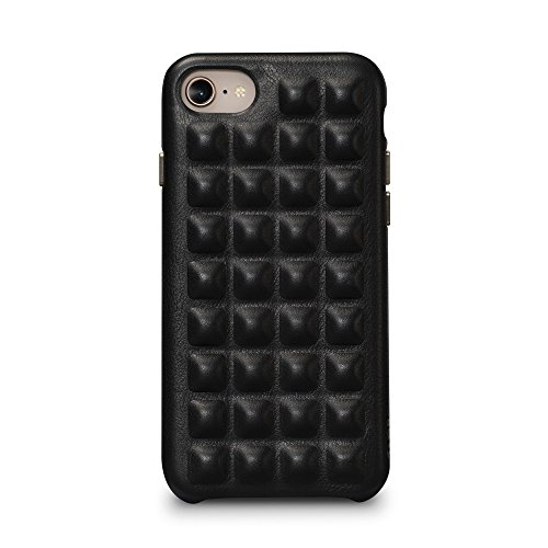 Sena Jagger Fall-Cool und Stilvoll Gepolsterte Ohrstecker Leder Design Leder Schutzhülle für iPhone 8/7, Schwarz Sena Iphone Flip Case