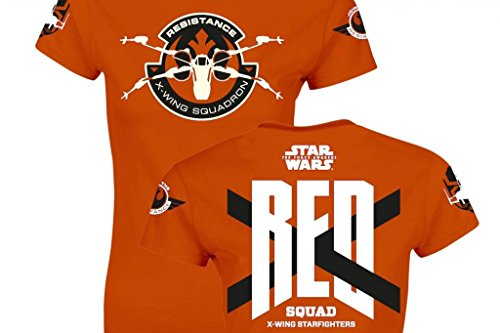 SD toys - T-Shirt - Star Wars Episode 7- Femme Red Squad Orange Taille L - 8436546899389