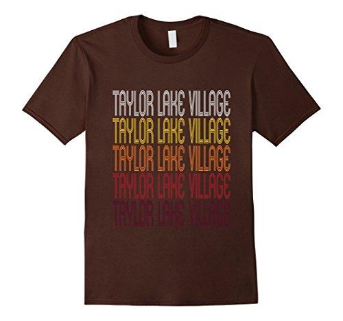mens-taylor-lake-village-tx-vintage-style-texas-t-shirt-small-brown