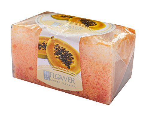 Nature of Agiva Glycerin Handmade Soap with Sponge - Aroma Papaya