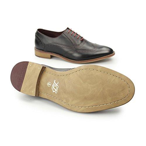 London Brogue richelieus George Oxford Homme Brogue richelieu Mocassin Black Leather