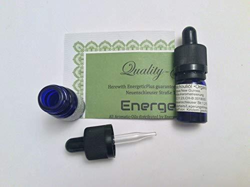 Patchouli Öl 100% Naturrein, 5ml Glas mit Pipette - organischer Anbau in Papua Neu Guinea, ICI-Zertifikat - Patschuliöl für Wellness, Beauty, Aromatherapie