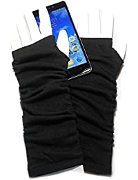 PRESKIN – Stylishe Stulpen-Handschuhe, Cool – aber warm, Armstulpen lang, für mehr Fingerspitzengefühl für's Smartphone, Navi, Tablet ...