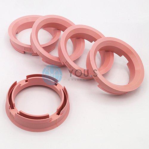 5 x CENTERING RING DISTANCE RING FOR ALUMINUM RIMS Z19D 72,6 - 57,1 mm  Brock, Keskin, Tuning, MoTeC, oxigin, RC, Tomason, Wheelworld, ADVANTI