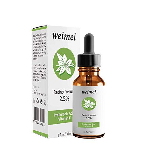 IrahdBowen Facial Essence Retinol Serum Anti-Aging Anti-Falten-Fine-Linien entfernen Hyaluronsäure und Vitamin E für Akne-Narben Hydrating...