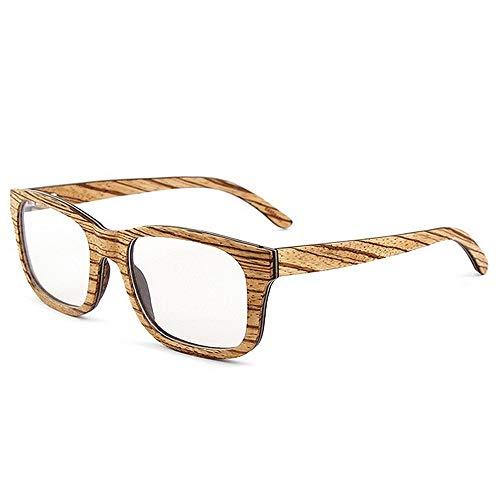 SCJ Herren Outdoor Freizeit Classic Wild Leopard Print Herren Holz Brille Katzenaugen Rahmen Brille Kunsthandwerk Freizeit Brille (Farbe: Braun)