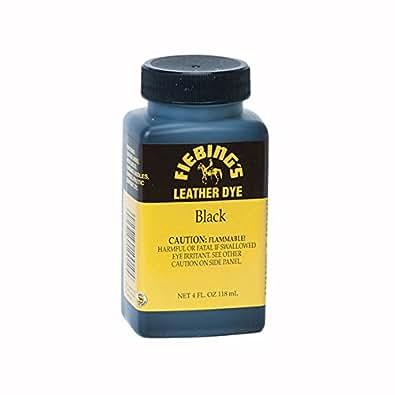 Fiebings Leather Dye 4oz / 118ml (Black)
