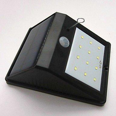 H&M Haute qualité Lumières actionnées solaires 12 LED Etanche coupons de corps induction mur/lampes lampes/jardin , black