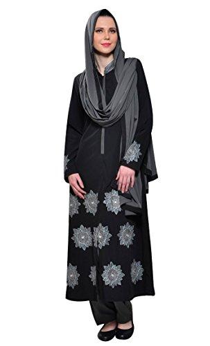 East Essence - Robe - Imprimé - Manches Longues - Femme Noir