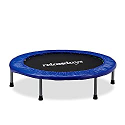 Relaxdays Trampoline Children, Foldable, Max. Person weight: 45 kg, HxWxD: 22 x 96 x 96 cm, blue-black