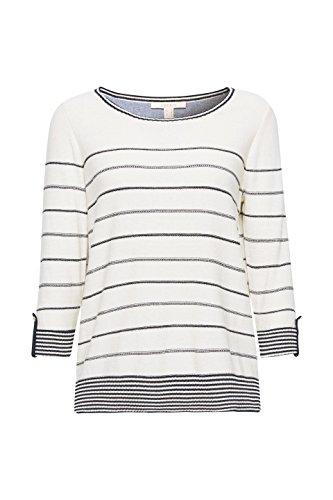 ESPRIT Damen Pullover Mehrfarbig (Off White 2 111)