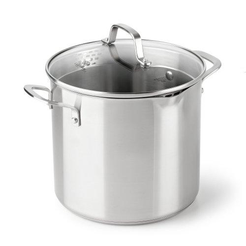 Calphalon Classic Stainless Steel Cookware, Stock Pot, 8-quart
