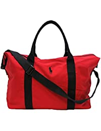 POLO RALPH LAUREN RED BLACK DUFFLE HOLDALL GYM WEEKEND OVERNIGHT BAG  NEW 07653a5b0acca