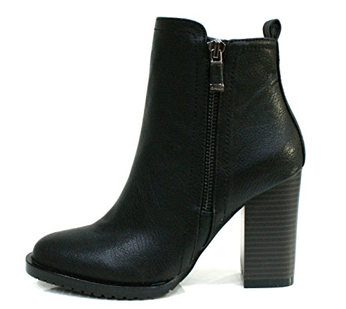 Gaudi Tronchetto Donna Verity Zip Tacco Cm 9 Leather Black_36