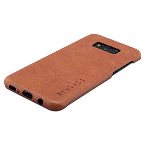 KANVASA Galaxy S8 Plus Lederhülle Leder Case Ledertasche Braun One Luxus Echtleder Backcover für Original Samsung Galaxy S8+ (6,2