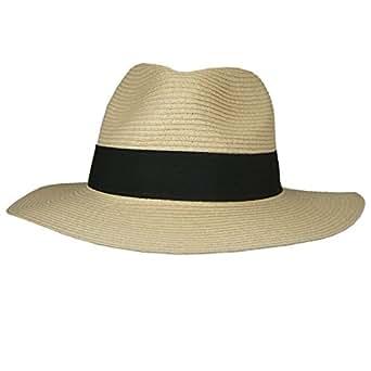 Hey Hey Twenty - Mens / Ladies - Packable Fedora Sun Hat with Travel Tube - Panama Trilby Style, Size: 57cm (Medium)