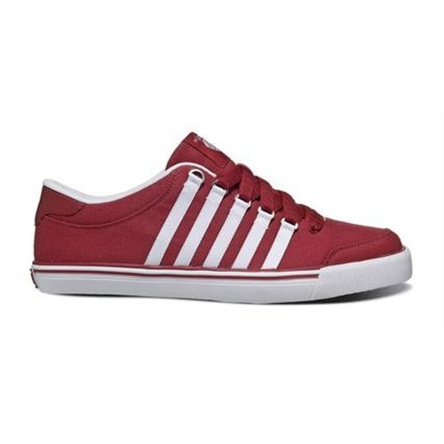 K-Swiss Herren Cali Canvas Turnschuhe Mehrfarbig rot / weiß Größe 7 (Cali Canvas Sneaker)