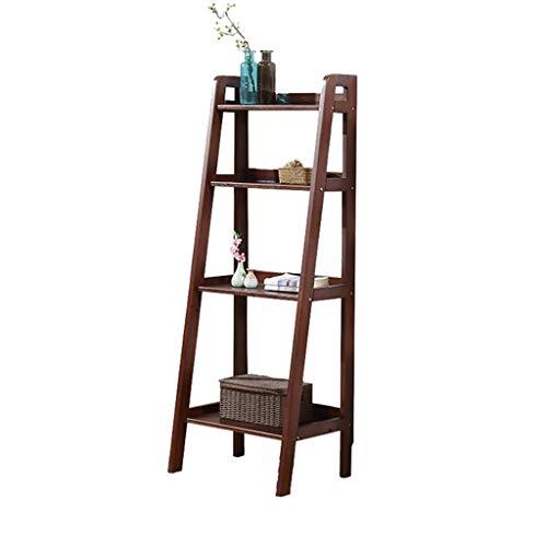 Kitchen furniture - Meubles en bois simples de support d'étagère de salon de fleur en bois WXP (Couleur : Walnut color)