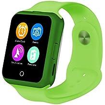D3C88Bluetooth Smart Watch para Niño Niña Android teléfono 1,22pulgadas pantalla táctil mtk6261apoyo Sleep Monitor Ritmo Cardíaco Reloj de pulsera