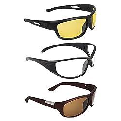Zyaden COMBO of Night Vision Sunglasses - Combo - 1489