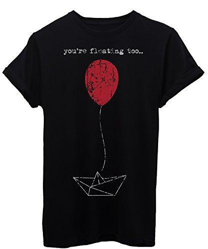 T-shirt you're floating it pagliaccio palloncino - cinema - maglietta image - donna-s-nera