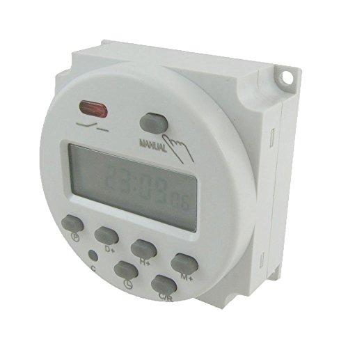 Licht-timer Wandschalter (niceEshop(TM) DC 12V Digital LCD Energien Programmierbares Licht Timer Time Switch Relay (Weiß))