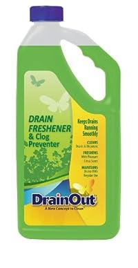 DrainOut DOF0632N Drain Freshener & Clog Preventer-32 Fluid Ounces-Environmentally Safe Powerful Drain Cleaner-Septic Safe