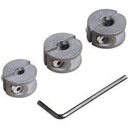 3 Tiefenstopps für Bohrer Ø 6, 8, 10 mm