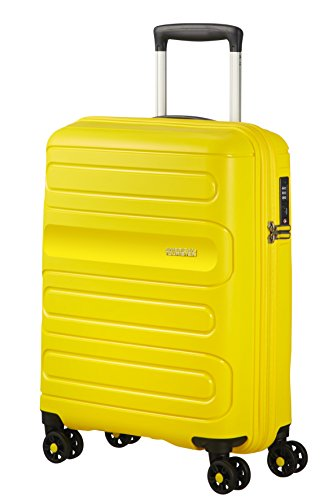 American Tourister Sunside Spinner 55/20 Equipaje de Mano, 55 cm, 35 Liters, Amarillo (Sunshine Yellow)