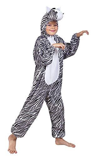 Preisvergleich Produktbild Boland 88276 Kinderkostüm Zebra Plüsch,  Unisex-Kinder,  Schwarz / Weiß,  max 1, 16 m