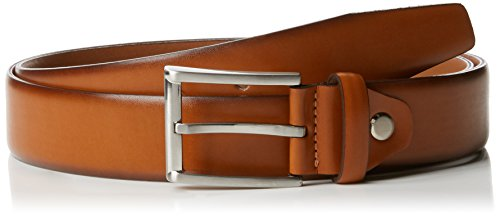 MLT Belts & Accessoires Herren Business-Gürtel London, Braun (Light Cognac 6600), 110