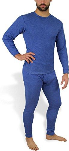 Sehr warme Thermo Unterwäsche - Ski Sportunterwäsche Garnitur - Unterhose und Hemd Thermounterwäsche von normani Farbe Jeans Größe 8=L