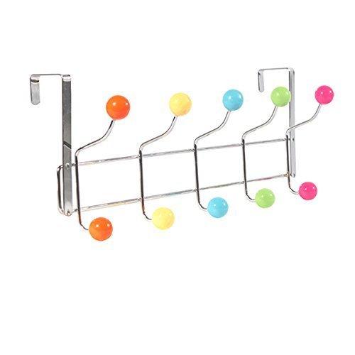WINOMO Edelstahl Rostfrei 10 Hakens Wandgarderobe Türgarderobe für Kinderzimmer Housewares badezimmer Tür-Garderobe Leiste