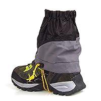 Dimart 1 Pair Unisex Snowproof Waterproof Ultra-light Gaiters For Outdoor Hiking Walking Boating Fishing Skiing (Black)
