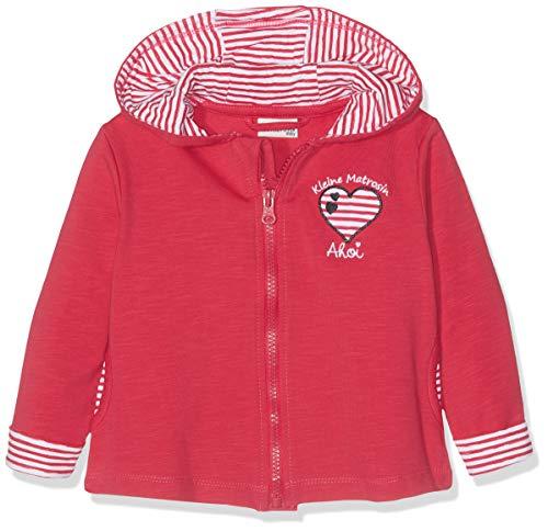 SALT AND PEPPER Baby-Mädchen B Jacket Meer Uni Kap Jacke, Rot (Hibiscus 360), 80 - Kapuzen Baby Jacke Mädchen