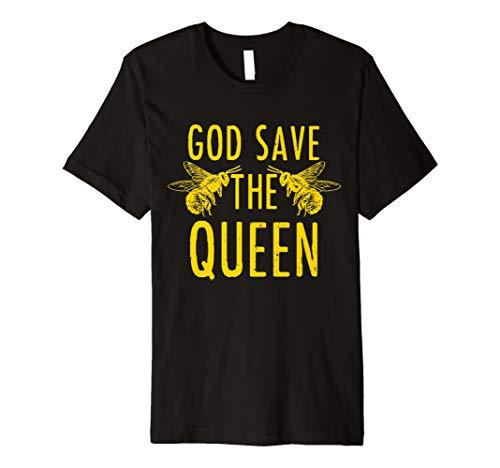 Imker T-Shirt - God Save The Queen Bienen Shirt Geschenk