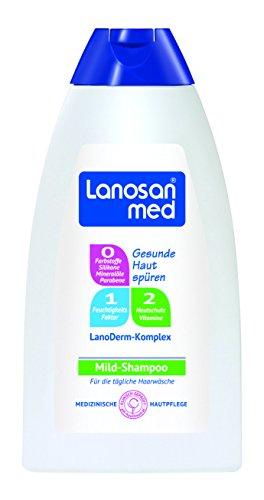 Lanosan med Mild-Shampoo 250 ml / Shampoo für trockene und empfindliche Haut im 3er Vorratspack (3 x 250 ml)