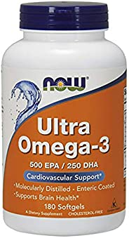 NOW Foods Ultra Omega 3 Fish Oil - 180 Soft Gel Capsules