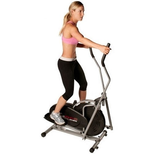 Confidence Elliptical Cross Trainer with Computer - Black/Silver - Cadio Exercise / Home Gym Workout