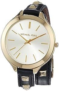 Michael Kors Montre bracelet à quartz analogique pour femme en cuir mk2317
