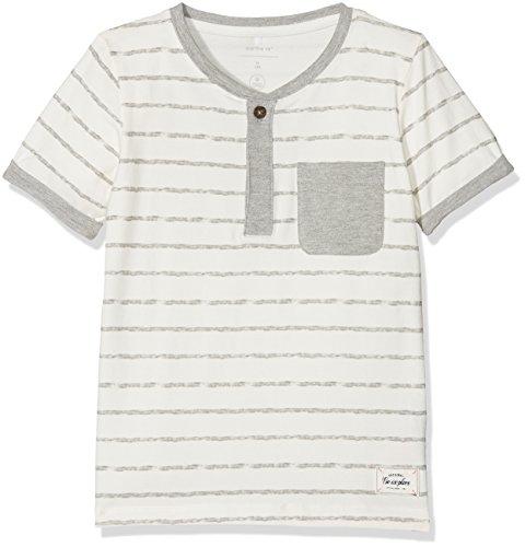 NAME IT Jungen T-Shirt Nmmfaril SS Top, Mehrfarbig (Grey Melange), 122 (Herstellergröße: 122/128) (T-shirt Henley Mini)